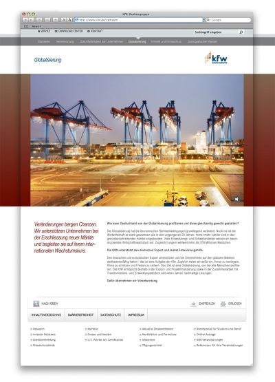 kfw Microsite globalisierung globalization anual report 2010